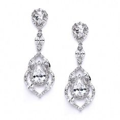 These 2 h x w Wedding or Prom Earrings boast a gorgeous modern design featuring AAA grade Cubic Zirconia stones at an attractive price. Our brilliant CZ's set in Genuine Silver Rhodium have the look of real Platinum Bridal Jewelry. Prom Earrings, Bar Stud Earrings, Prom Jewelry, Bridesmaid Earrings, Wedding Earrings, Crystal Earrings, Bridesmaid Dress, Wedding Jewelry, Diamond Earrings