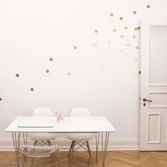 Wandsticker Dots Gold 18er Set
