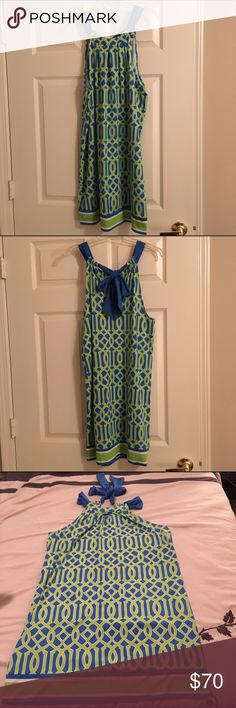 💐SALE💐Mud Pie Green, Blue and White Dress It was only worn once. It is in great condition. This is a size large, the tag says L 12-14. Mud Pie Dresses Midi