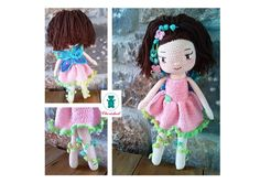 Crochet fairy doll 42cm