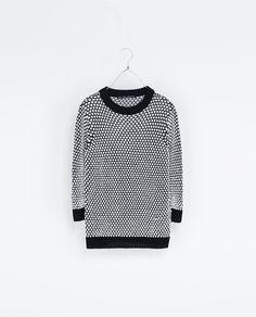TWO - TONE SWEATER - Knitwear - Woman - New collection | ZARA United Kingdom