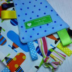 """KIT """"doudou étiquettes"""" cadeau de naissance - DIY : Kits, tutoriels Couture par pikebou"""