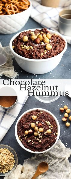 Blend up this Chocolate Hazelnut Hummus for a yummy appetizer or dessert!