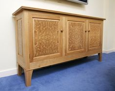 Amazing Stunning solid oak sideboard with beautiful burr oak panels Defiantly making it a head turner