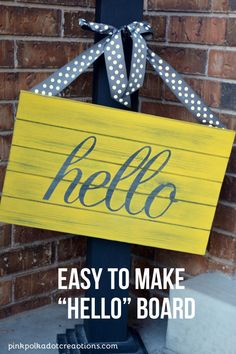 "Painted ""hello"" Board 