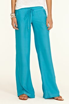 Silk Wide Leg Pant. These come in three pop colors. (I can't decide which I love most!)