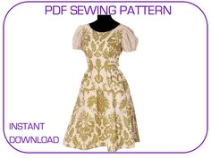 Computer drafted PDF sewing pattern The Sound of Music