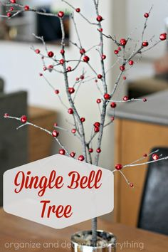 Jingle Bell Tree is perfect for Christmas but you could attach leaves for Thanksgiving, white pom poms for Winter, hearts for Valentines day, or flowers for Spring
