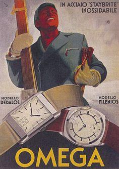 Vintage posters | classic posters | advertising posters | Watches. Lijkt net een Sovjet propaganda poster.