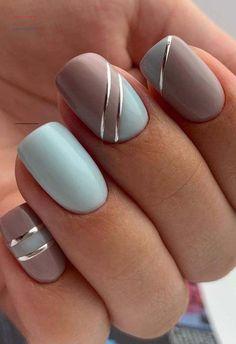 Square Nail Designs, French Nail Designs, Short Nail Designs, Nail Art Designs, Classy Nail Designs, French Nail Art, Nail Design For Short Nails, Acrylic Nail Designs For Summer, French Makeup