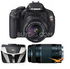 Canon EOS Digital Rebel T3i 18MP SLR Camera w/ 18-55mm Lens + 75-300mm Lens Bundle $499 after $400 Rebate + Free Shipping