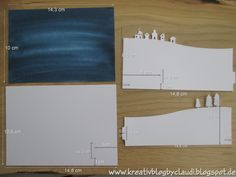 www.kreativblogbyclaudi.blogspot.de: Stille Nacht - Bendi Fold Card mit Anleitung