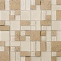"Emser Tile & Natural Stone: Ceramic and Porcelain Tiles, Mosaics, Glass Tiles, Natural Stone: Lucente Stone Blends Pattern Blends On 13""x13"" Mesh , Lido"