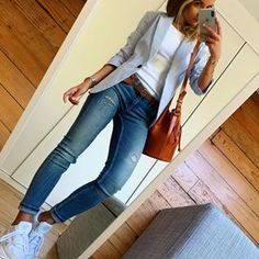 165 cute casual outfits to have in your closet – page 1 Casual Work Outfits, Business Casual Outfits, Mode Outfits, Work Attire, Work Casual, Chic Outfits, Casual Looks, Fall Outfits, Fashion Outfits