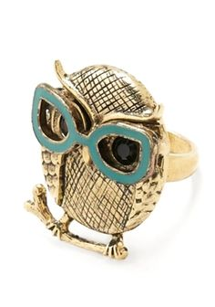 owl ring! Ok now this is really just too cute!!!!