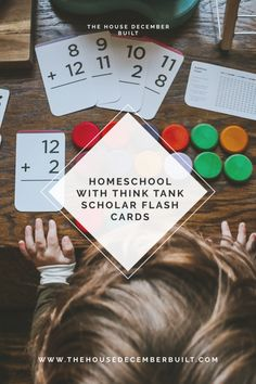 Homeschooling with Think Tank Scholar — The House December Built Kindergarten Curriculum, Math Literacy, Fun Math, Counting To 100, Counting Coins, Visual Learning, Learning Time, Addition Flashcards, December Birthday
