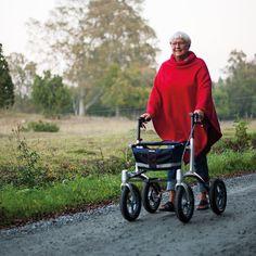 Smart Patrol Rollator Walker With 10 Inch Wheels For Rough Terrain Walkers Scooters Walker