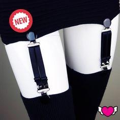 Suspender Clips, Stocking Suspenders, Thigh High Suspenders, Lingerie, Lingerie Garter - Style 1 by StyleWanderlustUSA on Etsy