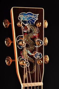 Headstock inlay by Harvey Leach. http://www.leachguitars.com/