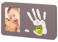 Duo Paint Print Frame-Diy mommy and baby hand print picture frame paint print, babi art, frames, taupe, baby art, hand prints, paints, art duo, print frame