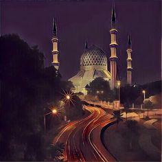 Sultan Sallahudin Aziz Mosque Shah Alam malaysia #myartpic
