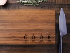 Geekery periodic table custom engraved wood cutting board chop geekery periodic table custom engraved bamboo wood cutting board cook science student or urtaz Images