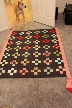 Megan at Crookedseams calls this quilt design an inverted Nine Patch
