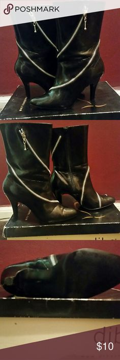 Booties Patent leather zipper booties. Comes with box. Shoes Ankle Boots & Booties