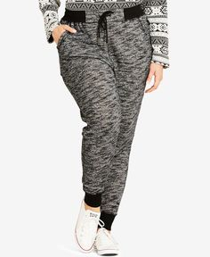 City Chic Plus Size Track Time Pull-On Jogger Pants