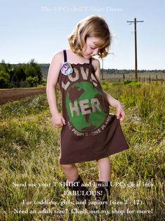 upcycled tshirt dress