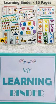 Learning Binder for Toddlers, Busy Book Pack, Educational Printable, Quiet Book, Homeschool Resource