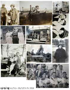 collage sheet of old black and white snapshots from my personal collection Land Of Nod Studios