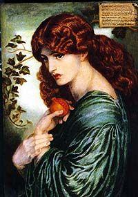 """""""Proserpine"""" by Dante Gabriel Rossetti."""