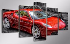 An awesome picture for any Ferrari-fan.Accessories needed for wall-attachement are provided with all of our canvas-products. Summer Sale, Ferrari, Bike, Free Shipping, Cars, Stuff To Buy, Products, Self, Bicycle
