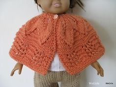 Knitting Pattern for 18 inch American Girl Doll Leafy Lace Shawl knit top down easy Instant Download now available by WeGirls on Etsy https://www.etsy.com/no-en/listing/33629098/knitting-pattern-for-18-inch-american