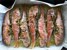 Foodie in Translation: Triglie al forno - Roasted red mullet