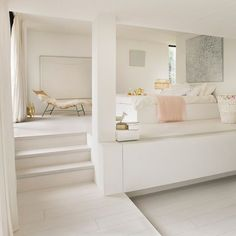 """ll➤ Quick-Step Eligna Wide Morning Oak Light"""" laminate flooring Room Design Bedroom, Bedroom Decor, Modern Bedroom, White Bedroom, Master Bedroom, Oak Bedroom, Clean Bedroom, Bedroom Ideas, Bedroom Flooring"""