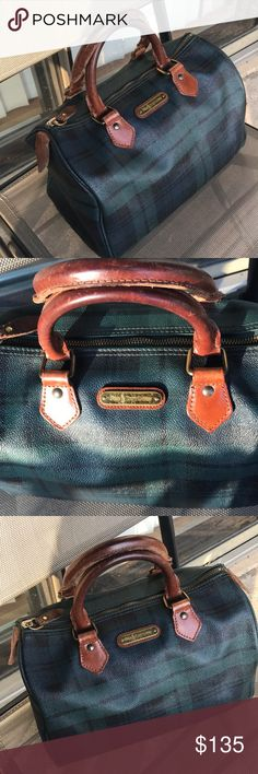 3644f822a0fd Polo Ralph Lauren vintage tartan bag Very good condition for its age
