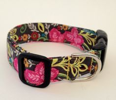 Floral Dog Collar by 2bulliescollars on Etsy, $20.00
