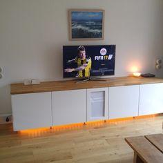 Transformer les rangements de cuisine IKEA METOD en un meuble audio-vidéo