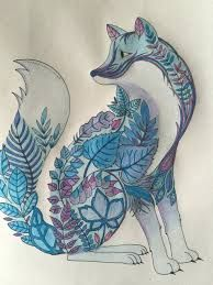 Image result for colouring book for adults fox