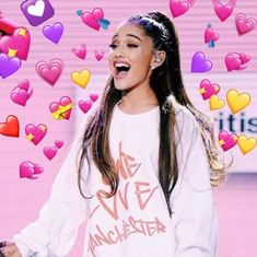 Discovered by ❄️Ariana🖤🥥. Find images and videos about pink, smile and ariana grande on We Heart It - the app to get lost in what you love. Ariana Grande Meme, Ariana Grande Smiling, Divas, Heart Meme, Heart Pictures, Cute Memes, Dangerous Woman, Wholesome Memes, Meme Faces