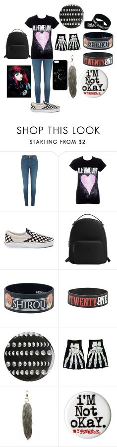 """Mee"" by emo-poison ❤ liked on Polyvore featuring River Island, Vans, MANGO and Under One Sky"