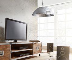 Hängeleuchte Lambrini 25x100 cm Silberfarben Metall