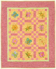 FlutterBy baby quilt by Karla Alexander