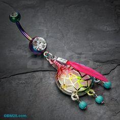 Colorline Opal Sparkle Dreamcatcher Belly Button Ring