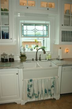 Superb Kitchen Farmhouse Sink And Stained Glass Windows | Stuff | Pinterest |  Sinks, Kitchens And Glass