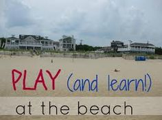 Students can also learn at he beach like counting sea shells or how many seagulls ate a piece of bread....