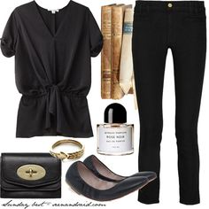 Black Jeans w lace shirt
