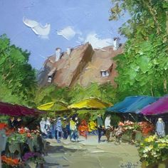 """""""Flower Market"""" by Paulson, available at JR Mooney Galleries"""